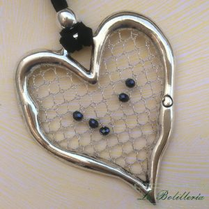 Colgante Corazón Brillo Negro