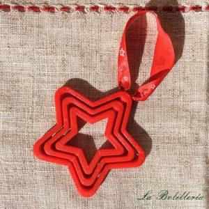Bola de Navidad Estrella Roja
