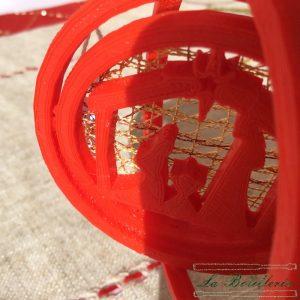 Bola de Navidad Portal de Belén Rojo