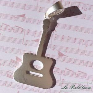 Colgante Guitarra Mate Plata
