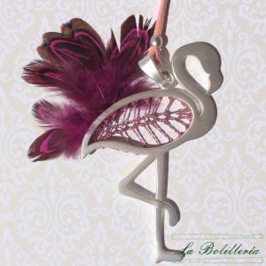 Colgante Flamenco Rosa Claro